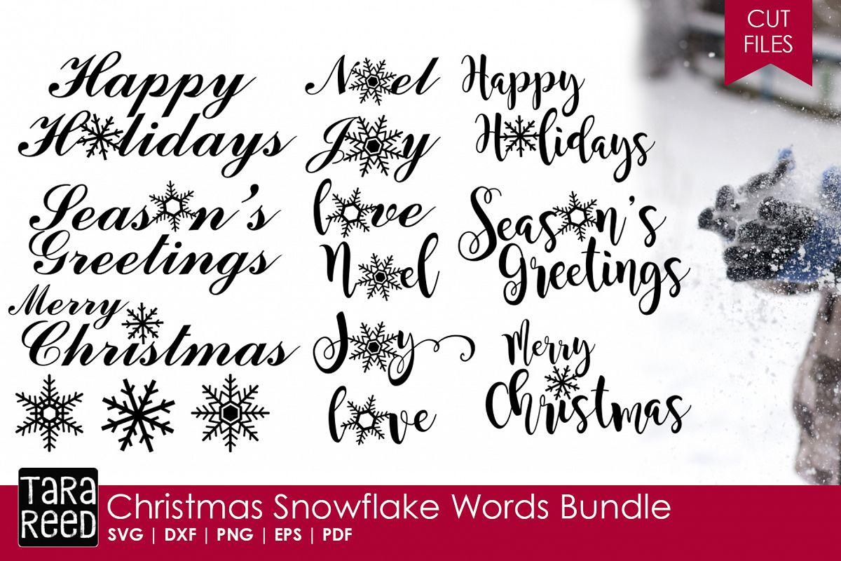 Christmas Snowflake Words Bundle