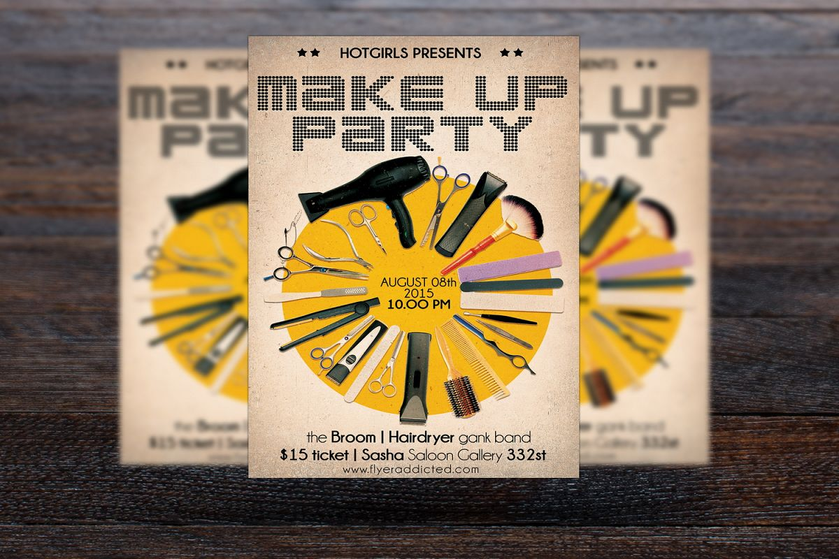 Make Up Party Flyer example image 1