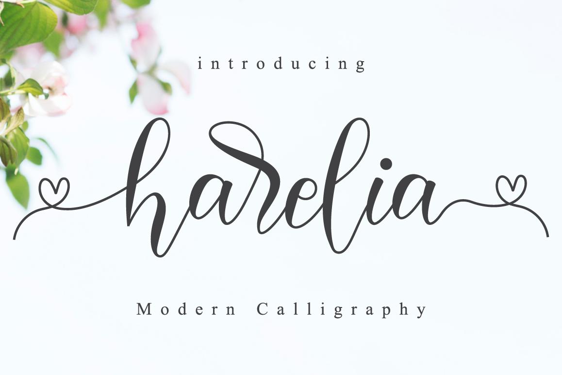 Harelia Script example image 1