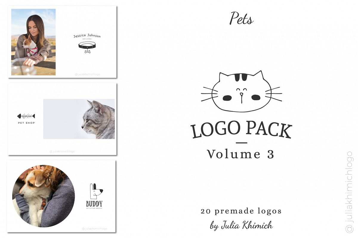 Logo Pack Vol.3. Pets example image 1