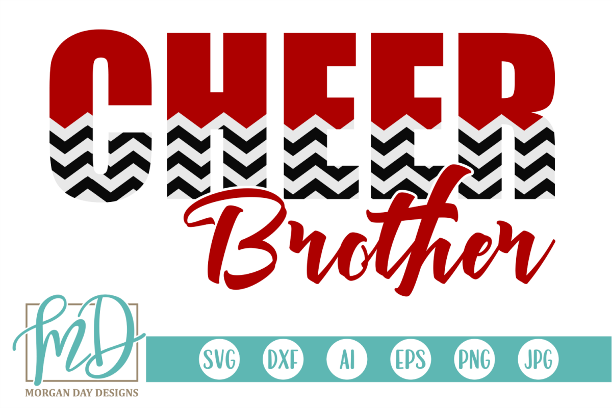 Cheer Brother - Cheerleader SVG, DXF, AI, EPS, PNG, JPEG example image 1