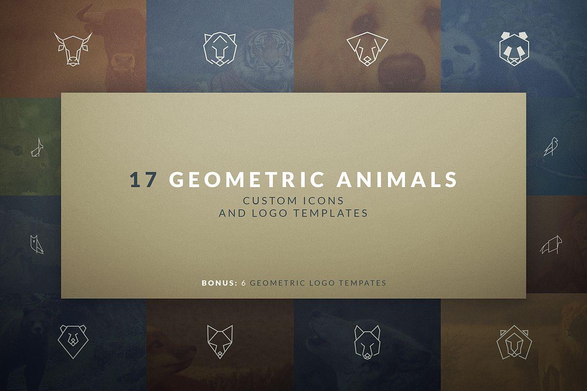 17 Geometric Animal Icons and Logos example image 1