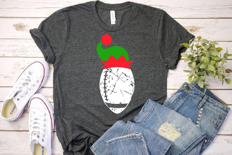 Football Christmas Hat svg Elf sweater Elf sweater 1048s example image 1