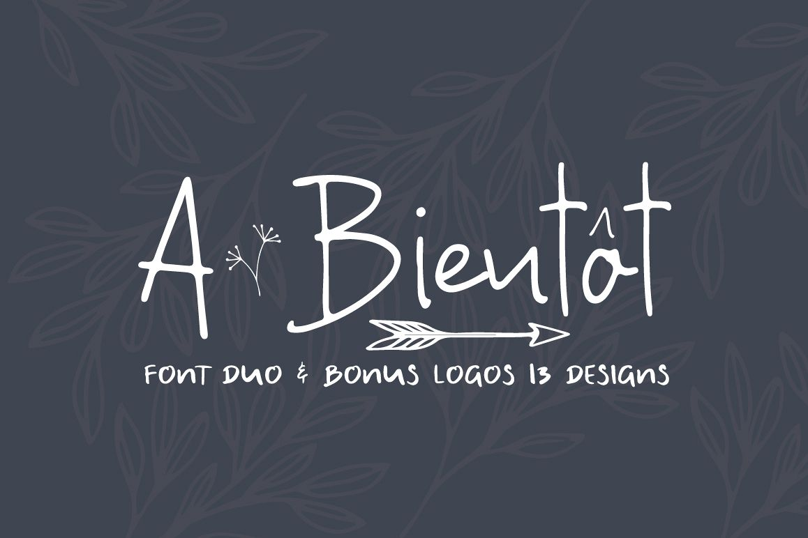 A Bientot | Font Duo with Bonus Logo example image 1