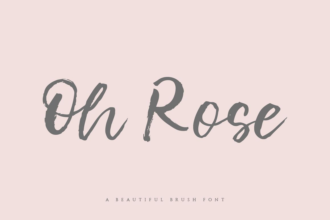 Oh Rose Brush Font example image 1