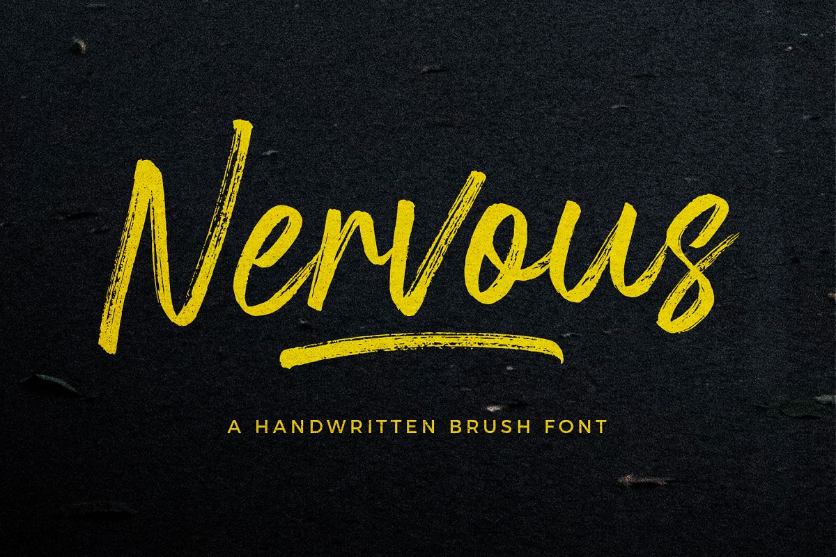 Nervous Brush Font example image 1
