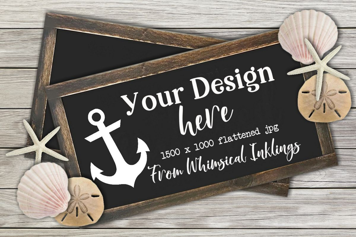 At The Beach Sign Mock Up example image 1