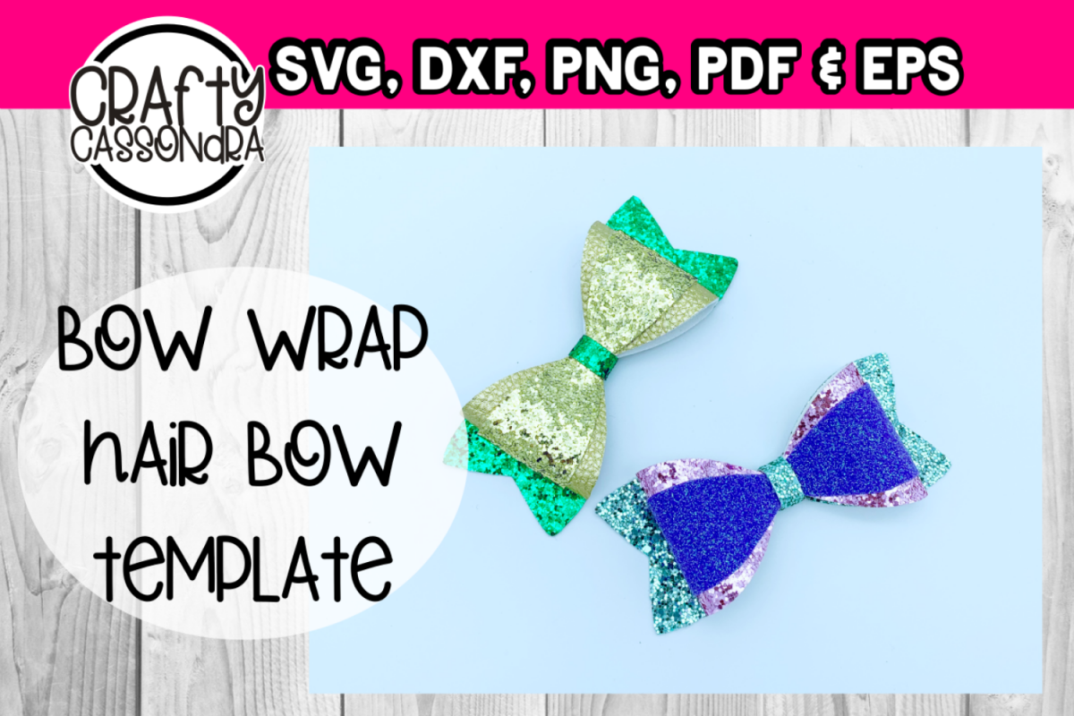 Simple Wrap Bow Template example image 1