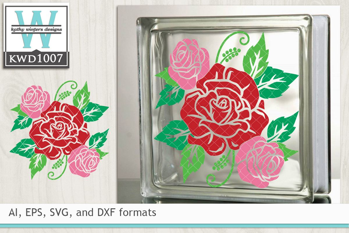 Valentine SVG - Rose Cluster example image 1