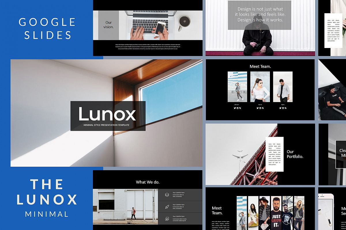 Lunox Dark - Google Slides Presentation example image 1
