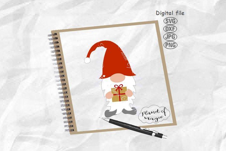Gnome Svg, Christmas Gnome Svg, Christmas Svg example image 1