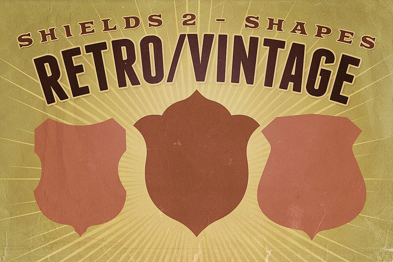 Retro/Vintage shapes - Shields 2 example image 1