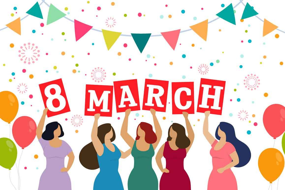 Happy Womens Day Vector Collection
