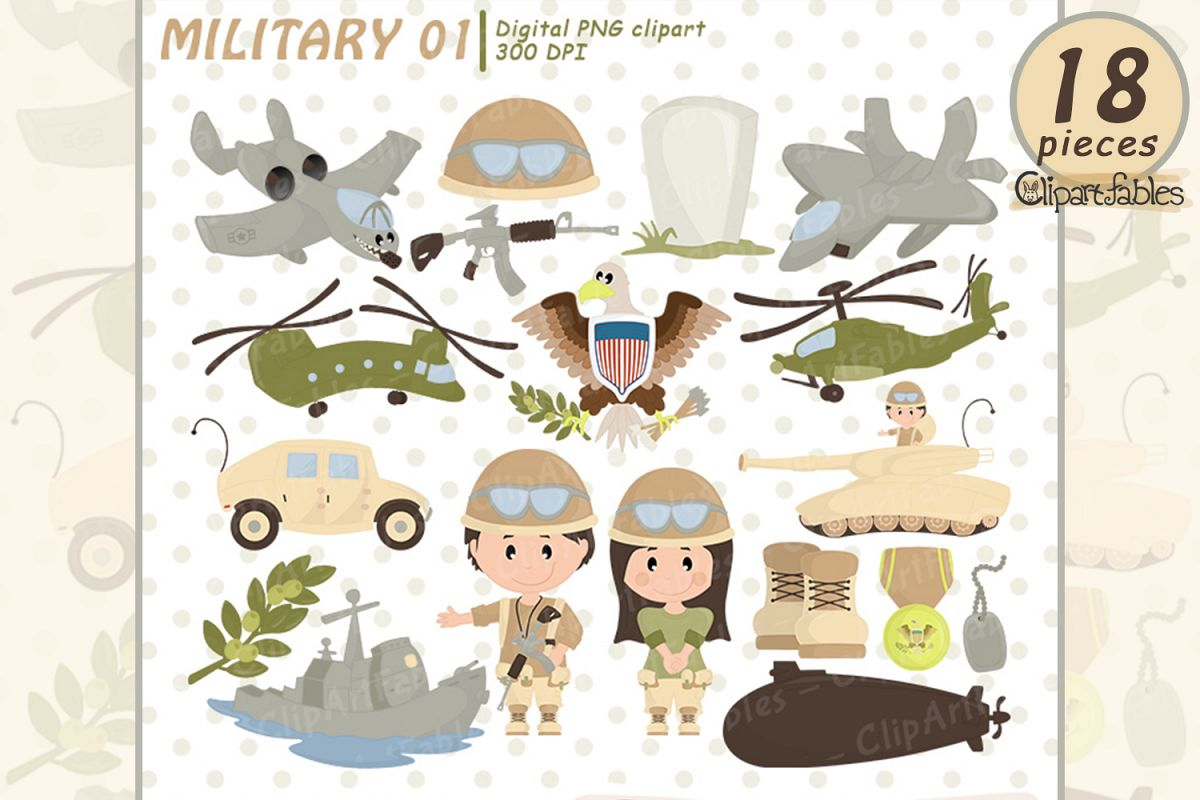 Memorial day, Military clipart, Cute army clip art, USA army example image 1