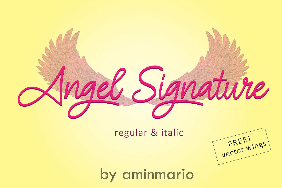 ANGEL SIGNATURE | free wings vector example image 1