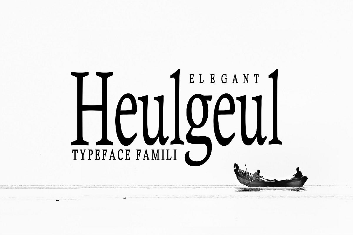 Heulgeul Typeface Family example image 1