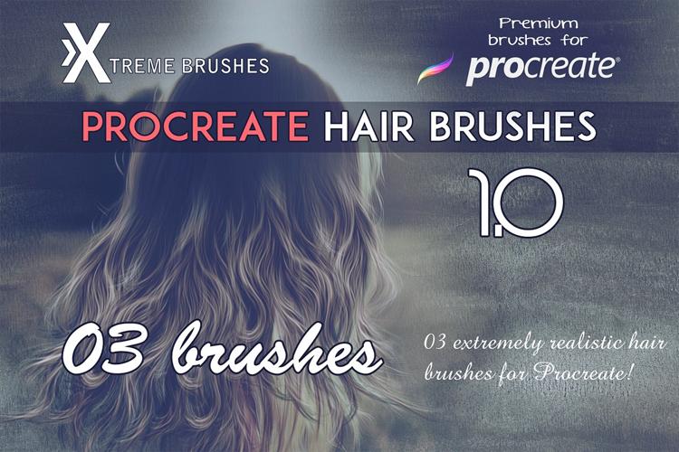 Procreate Hair Brushes 1.0 example image 1