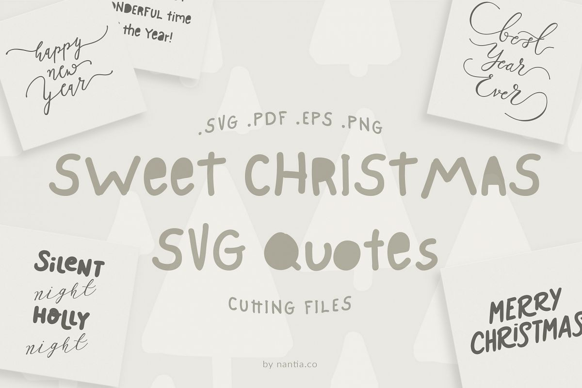 Sweet Christmas SVG Quotes example image 1