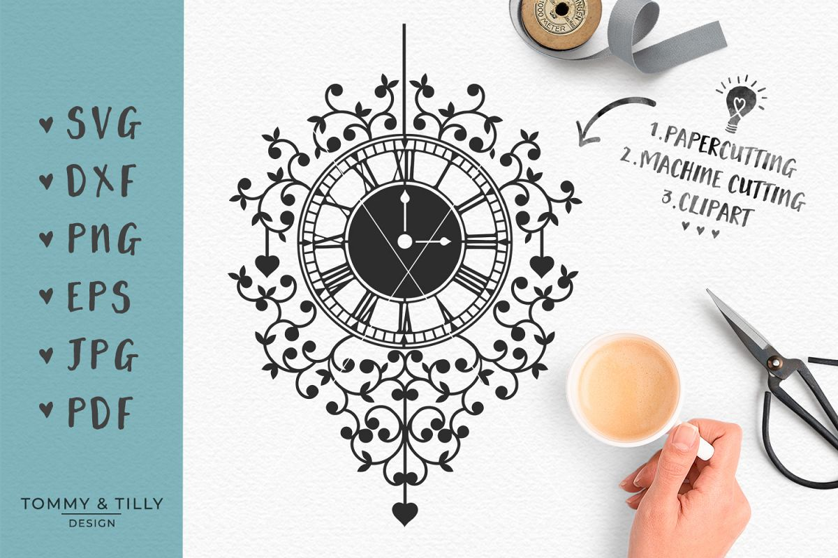 Clock - SVG DXF EPS PNG PDF JPG Cutting File