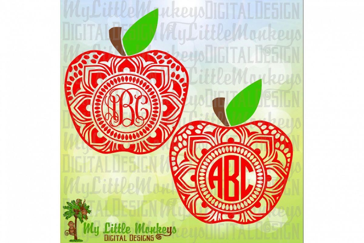 Apple Mandala Monogram Base example image 1