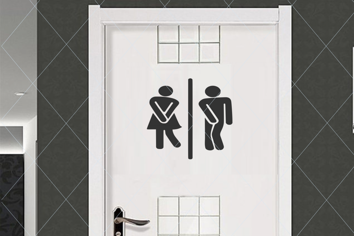 Restroom door sign, funny restroom sign, door sign svg example image 1