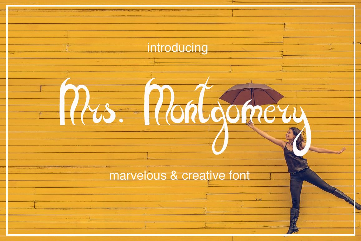 Mrs. Montgomery Brush Font example image 1