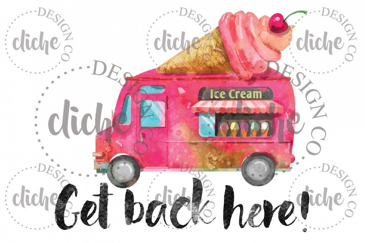 Kids Ice Cream Truck Sublimation Design example image 1