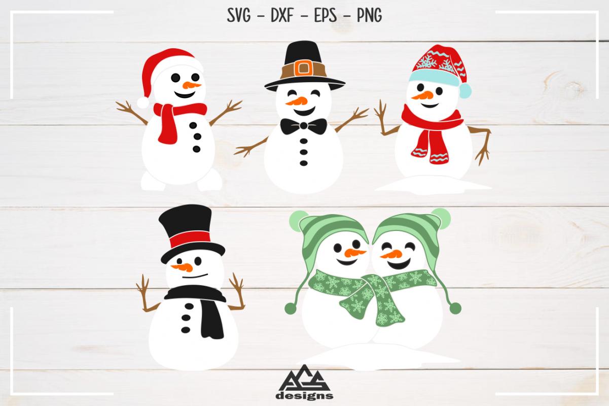 Snowman Winter Packs Svg Design example image 1
