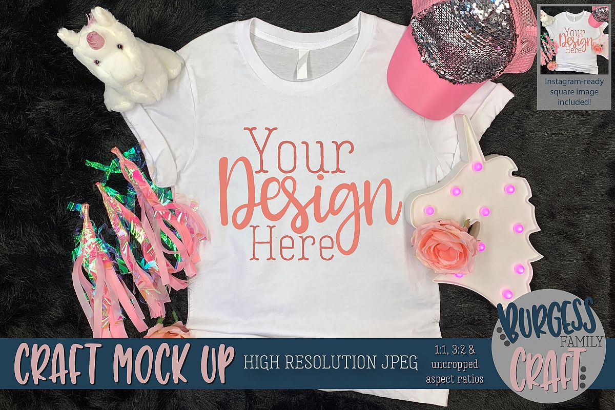 Pink explosion shirt Craft mock up | High Resolution JPEG example image 1