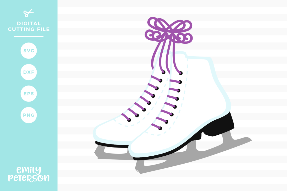 Ice Skates SVG DXF EPS PNG example image 1