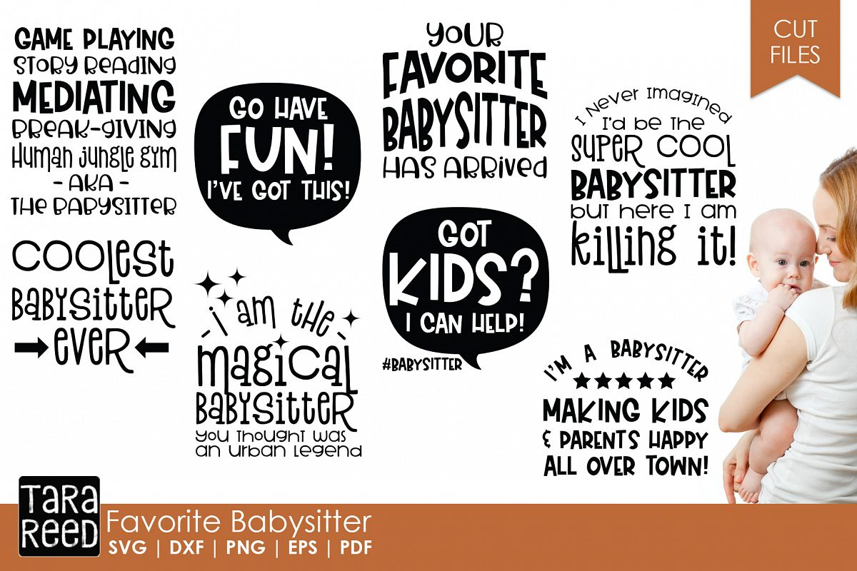 Favorite Babysitter - Babysitting SVG Files for Crafters example image 1