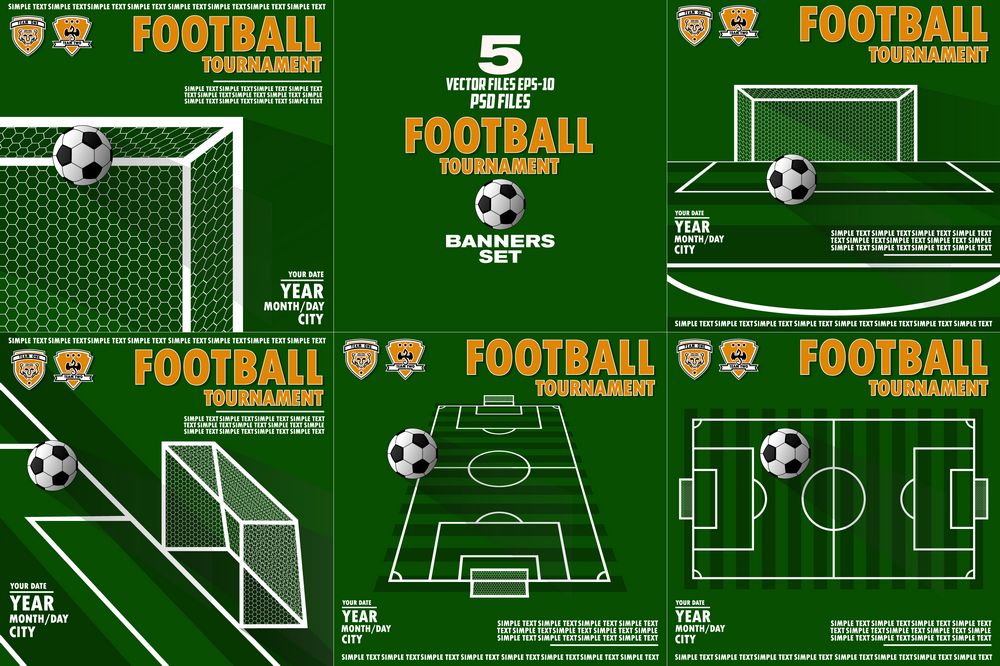 Variant Of The Poster For The Football Tournament 143930 Illustrations Design Bundles