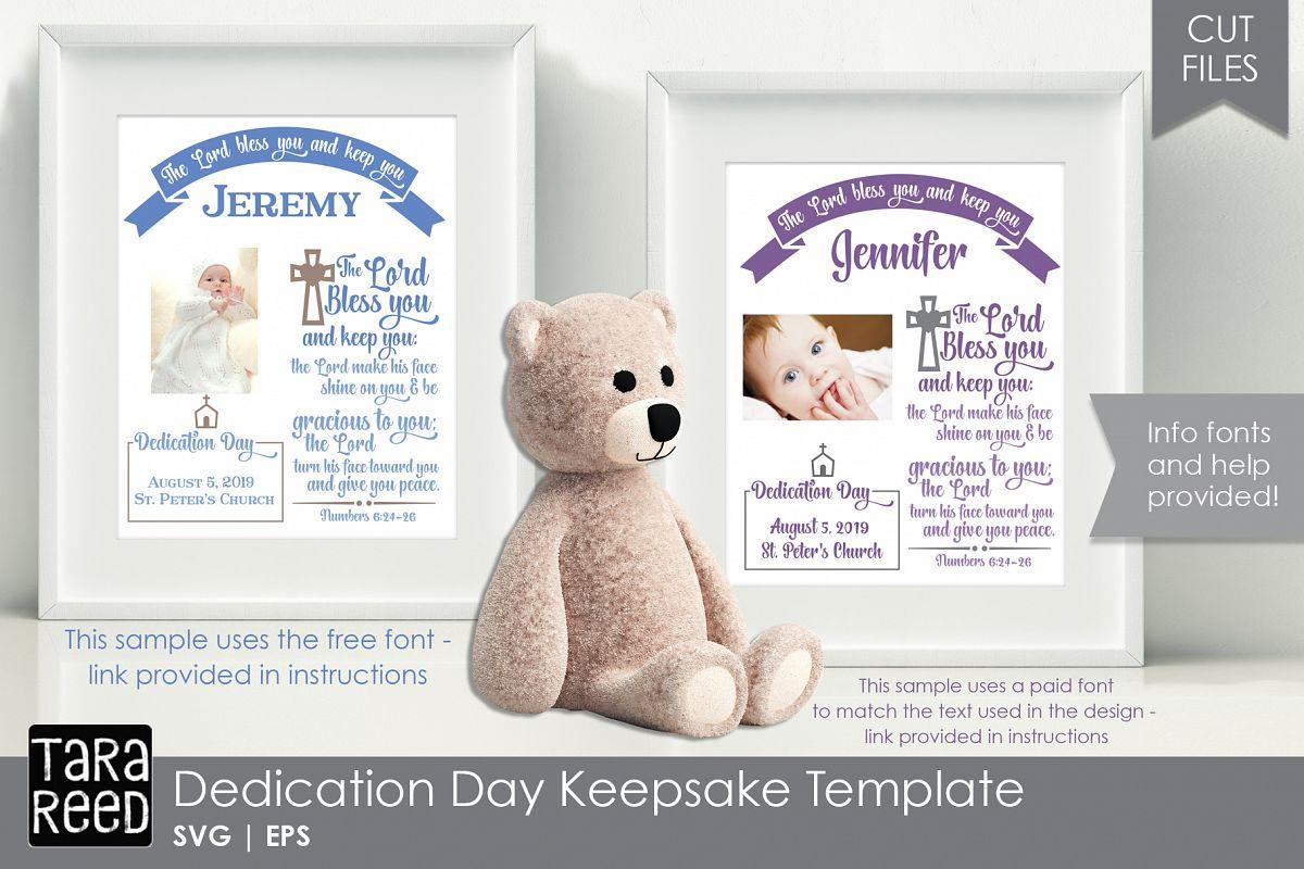 Personalized Dedication Day Keepsake Template example image 1