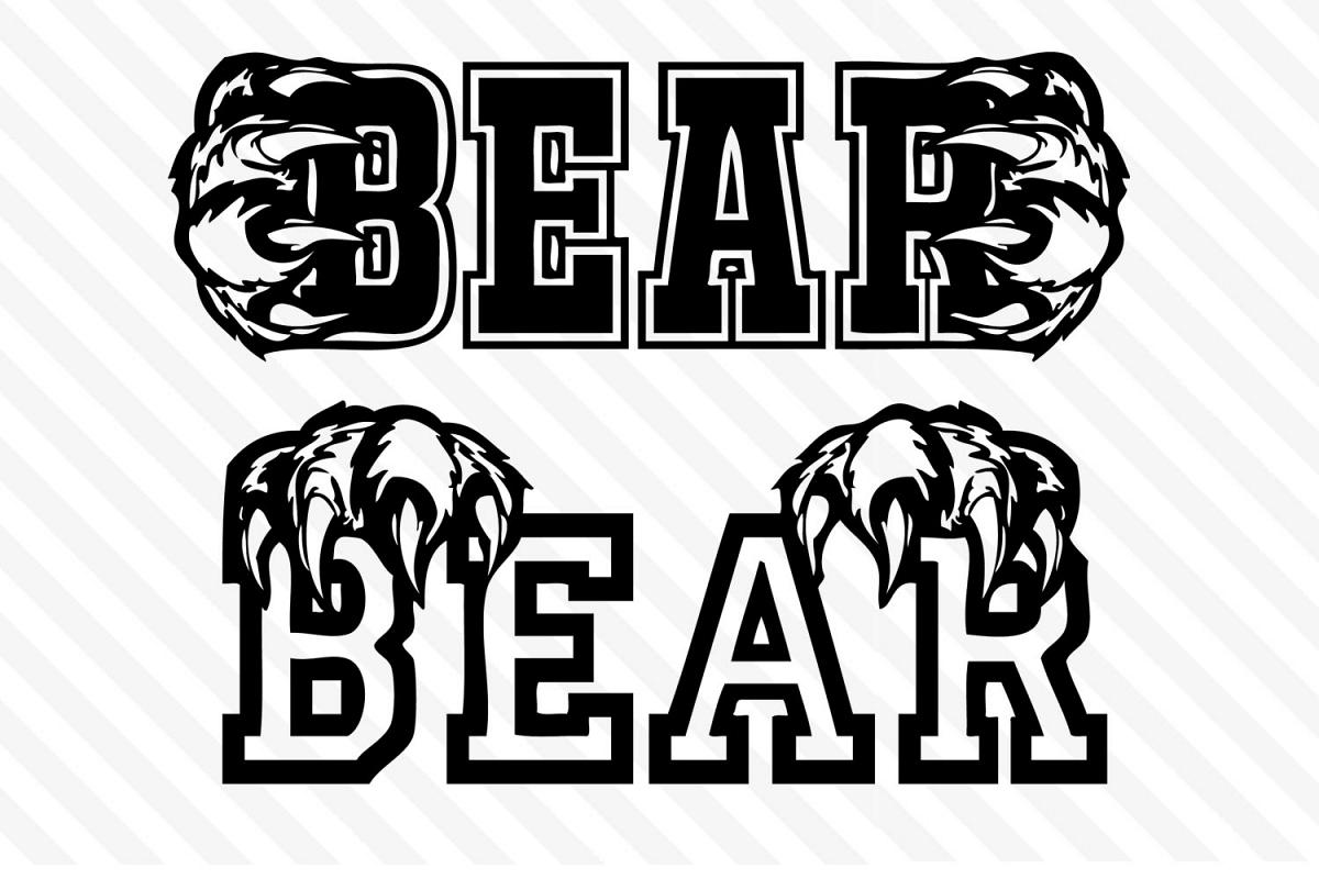 Bear football,Bear basketball.Bear baseball,svg,cricut, example image 1