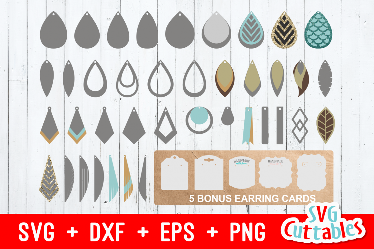 Earring Bundle | SVG Cut Files example image 1