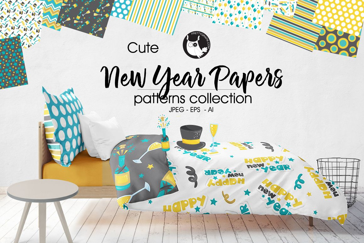NEW-YEAR-PAPERS , digital papers example image 1