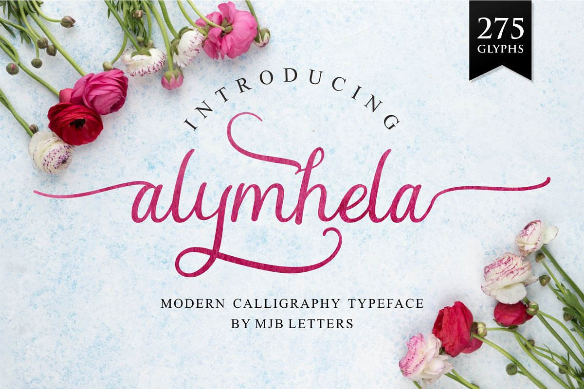 Alymhela Beautiful Script example image 1