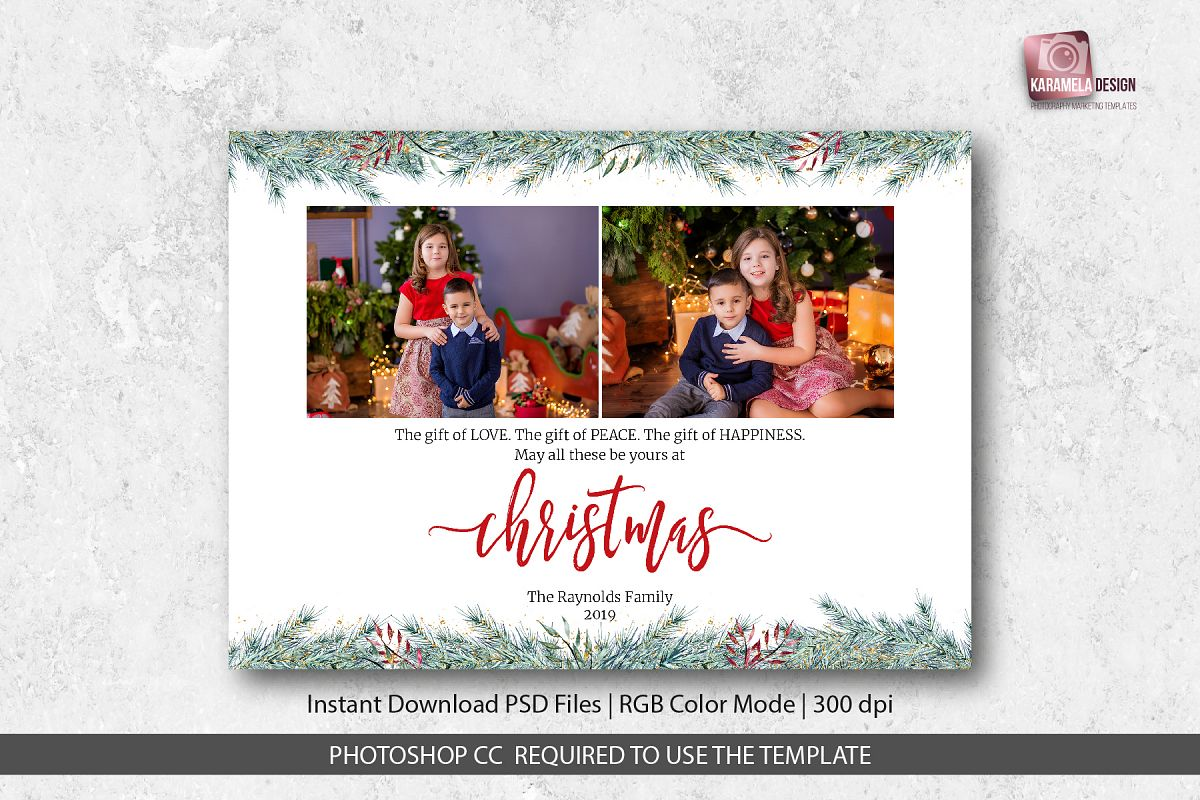 Christmas Card Template for Photographers example image 1