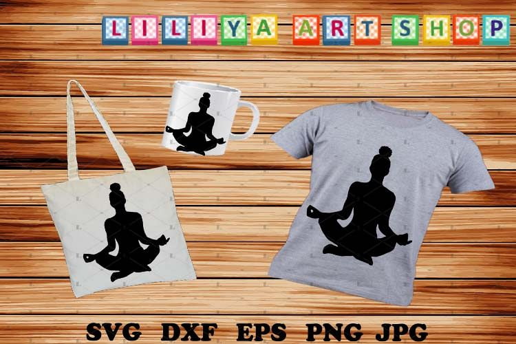 Afro Yoga svg,Afro woman svg,Black woman,Black history svg example image 1