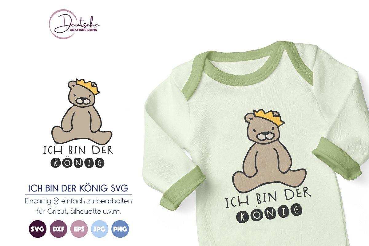 Bär SVG | Ich bin der König example image 1