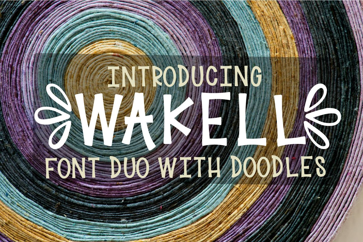 Wakell - Font Duo With Ornament Font example image 1