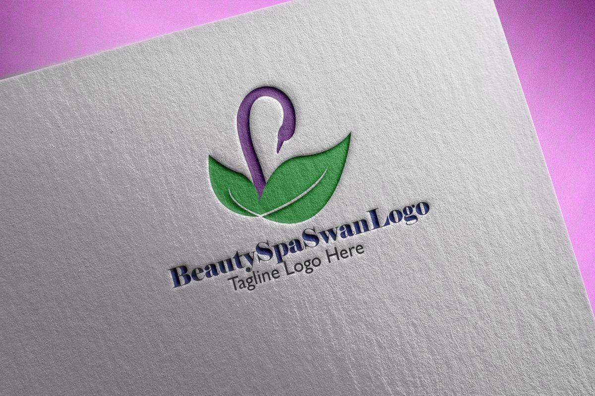 Premium Beauty Spa Swan Logo example image 1