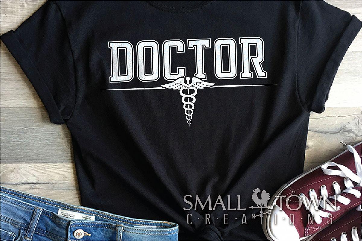 Doctor, Doctor Logo, Caduceus Badge, PRINT, CUT & DESIGN example image 1
