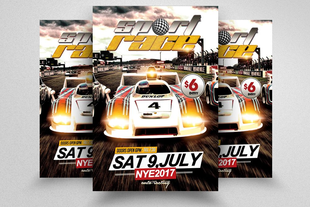 car racing flyer template