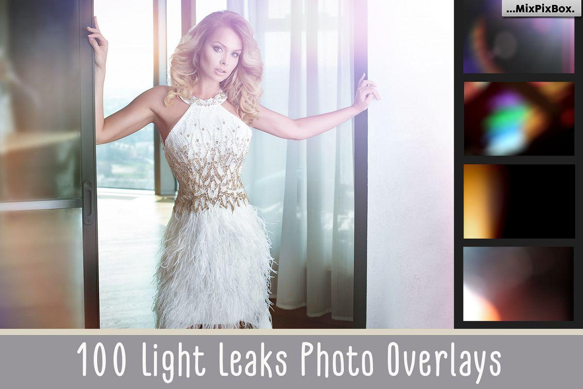 100 Light Leaks Overlays example image 1