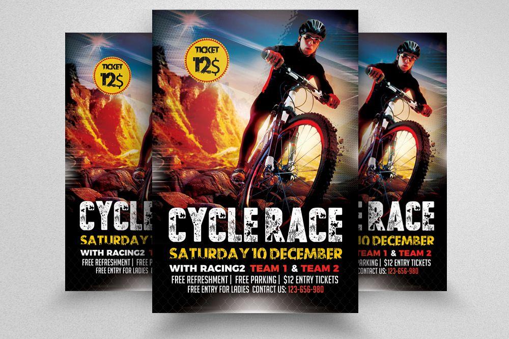 Mountain Bicycle Racing Flyer example image 1