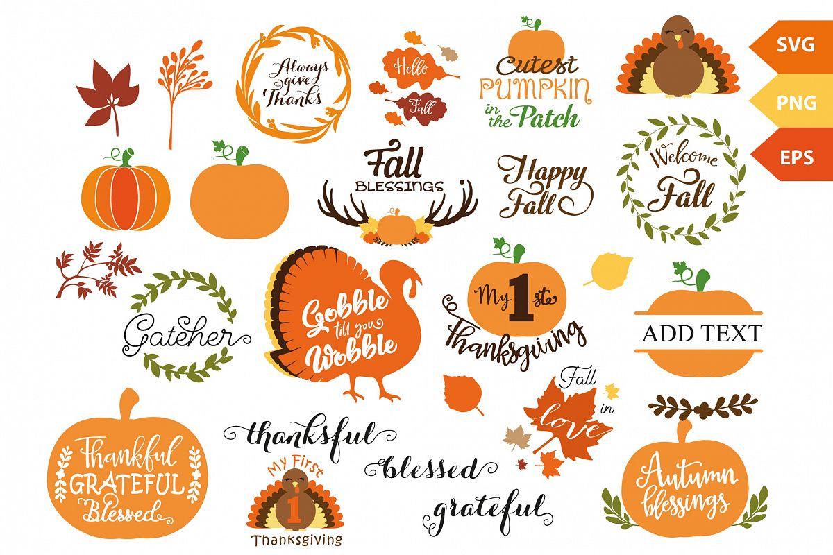 Thanksgiving Bundle, Fall SVG bundle for Autumn decoration example image 1