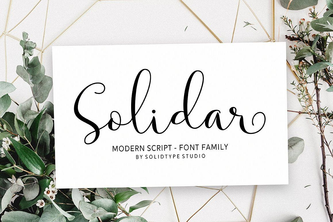 Solidar Font Family example image 1