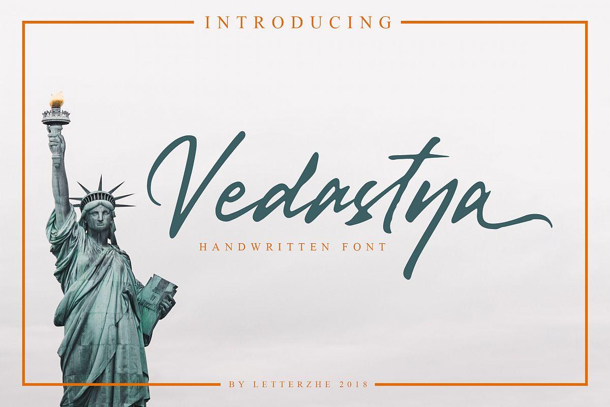 Vedastya Script Font example image 1