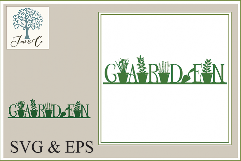 Illustrated Word - Garden example image 1